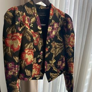 Beautiful Gold Floral Vintage Style Jacket